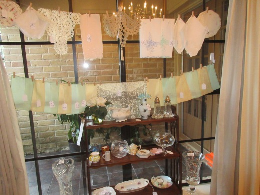 Our clothesline of linens.